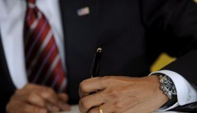 Obamas Brief (Foto)