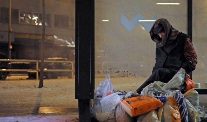 Obdachloser in Berlin (Foto)