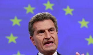 Oettinger will Schlendrian in Griechenland beenden. (Foto)