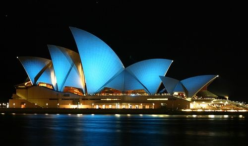 Oper in blau (Foto)
