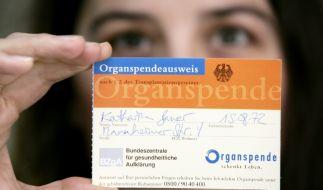 Organspendeausweis (Foto)