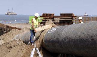 Ostseepipeline erreicht europaeisches Festland (Foto)