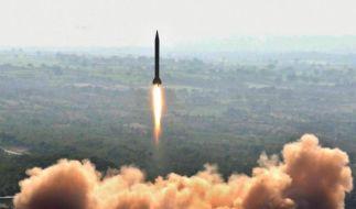 Pakistanischer Raketentest (Foto)