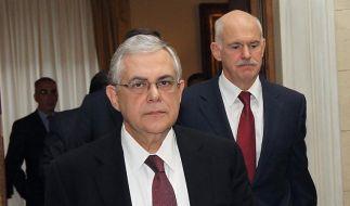 Papademos und Papandreou (Foto)