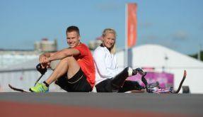 Paralympics-Traumpaar aus Leverkusen: Markus Rehm und Vanessa Low. (Foto)