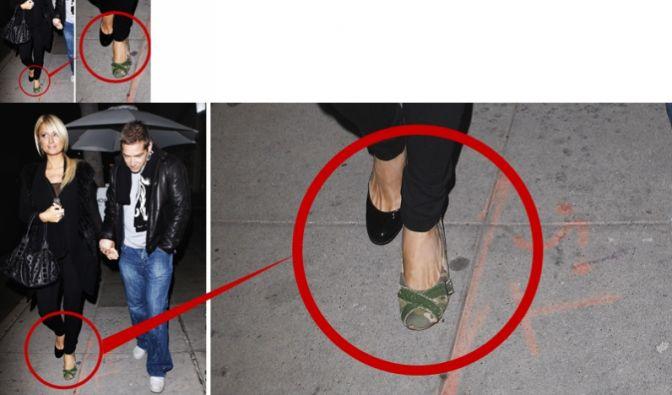 Paris Hilton trägt zwei verschiedene Schuhe (Foto)