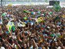 Partystimmung an der Copacabana. (Foto)