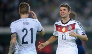 Pechvogel und zweifacher Torschütze: Marco Reus und Thomas Müller. (Foto)