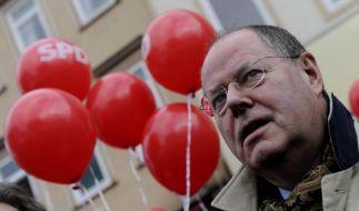 Peer Steinbrück in den letzten Zügen des Straßenwahlkampfs Niedersachsen. (Foto)