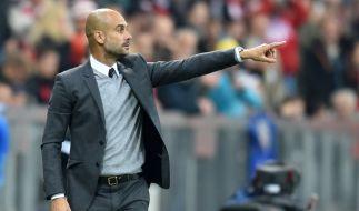 Pep Guardiola wechselt zum Sommer nach Manchester. (Foto)