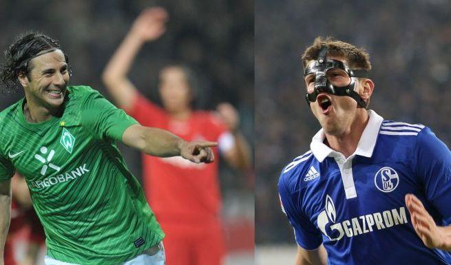 Pizarro vs. Huntelaar (Foto)