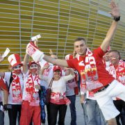 Polnische Fans beim Länderspiel Polen-Deutschland im September 2011.