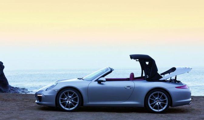 Porsche 911 Cabrio startet mit neuartigem Verdeck (Foto)
