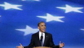 Präsident Barack Obama beim Parteitag der Demokraten. (Foto)