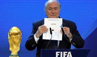 Präsident Joseph S. Blatter bei der WM-Vergabe in Zürich. (Foto)