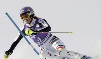 Prellung: Slalomstart von Höfl-Riesch fraglich (Foto)