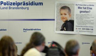 Pressekonferenz der Polizei in Potsdam: Seit einer Woche wird mit einem Großeinsatz in Potsdam vergeblich nach dem sechsjährigen Elias gesucht. (Foto)