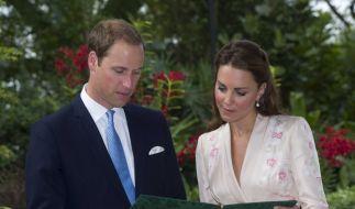 Prinz William und Herzogin Catherine im Botanischen Garten in Singapur. (Foto)