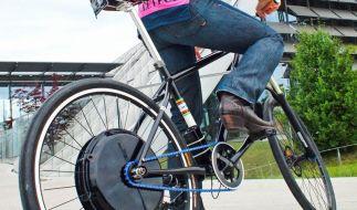 Probefahrt mit dem Rad (Foto)