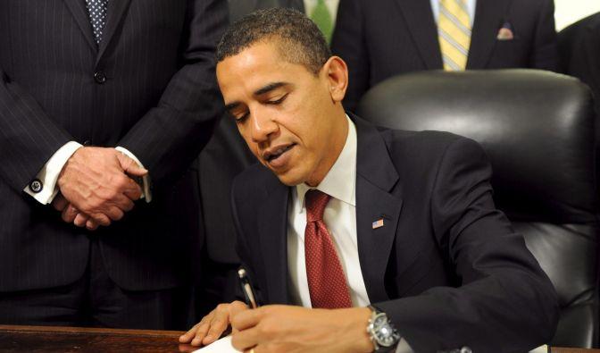 Prominenter Linkshänder: US-Präsident Barack Obama. (Foto)
