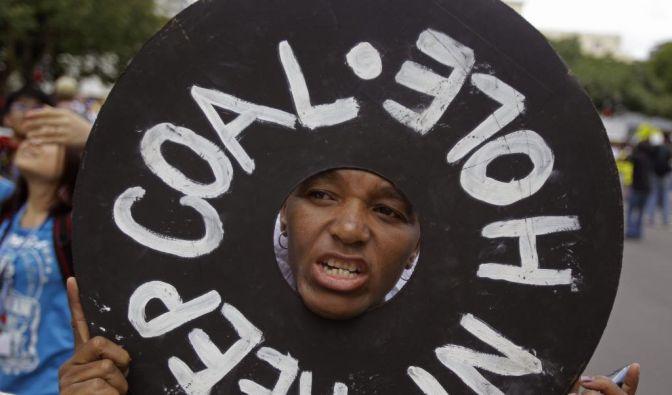 Protest beim Klimagipfel in Durban. (Foto)