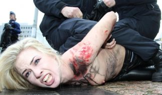 Protest der freizügigen Art: Auch vor dem EU-Russland-Gipfel hat Femen demonstriert. (Foto)