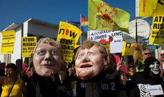 Protest gegen Atompolitik (Foto)