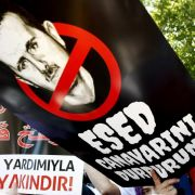 Protest gegen Syriens Machthaber Assad in Istanbul.