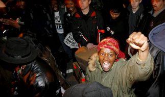 Protest gegen rassistisch motivierte Polizeigewalt in New York City am 6. Dezember 2006. (Foto)