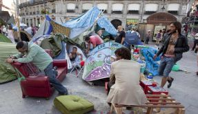 Protestbewegung in Madrid (Foto)
