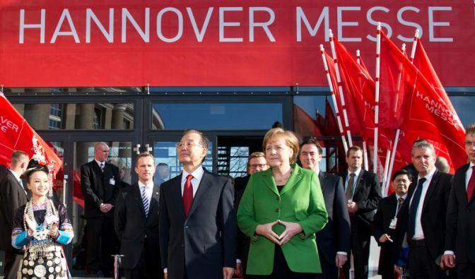Proteste gegen Wen Jiabao zum Start der Hannover Messe (Foto)