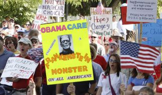 Proteste gegen die Gesundheitsreform: Präsident Obamas Pläne sind bei vielen Amerikanern umstritten. (Foto)