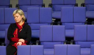 Quo vadis Linkspartei? Die designierte Parteichefin Gesine Lötzsch im Bundestag. (Foto)
