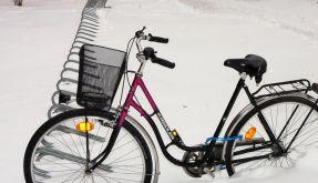 Radeln im Winter: Manchmal hilft nur Auftauen (Foto)