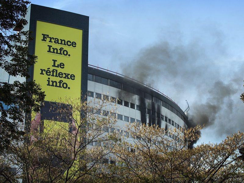 Explosion im Rundfunkgebäude