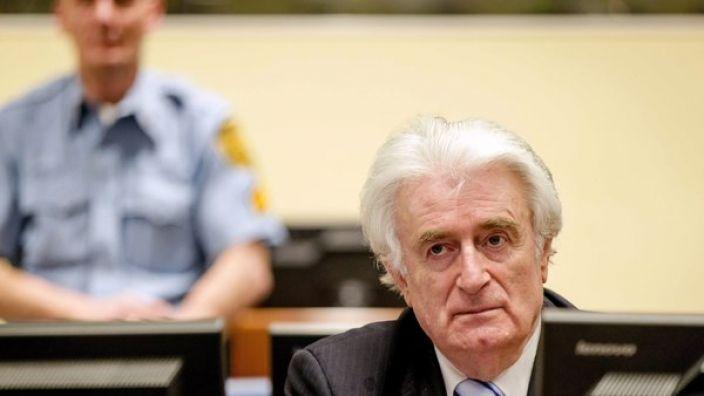 Radovan Karadzic wurde zu 40 Jahren Haft verurteilt. (Foto)