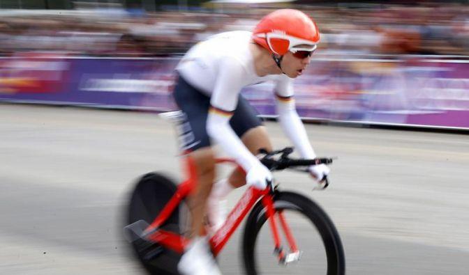 Radprofi Tony Martin hat seinen WM-Titel im Einzelzeitfahren verteidigt. (Foto)