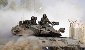 Raketenhagel auf Israel - Bomben auf Gaza (Foto)
