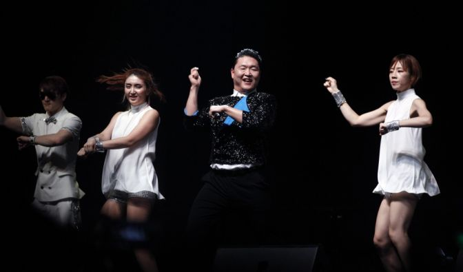 Rapper Psy tanzt den «Gangnam Style». (Foto)