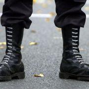 Razzia: Die Polizei ist mit einem Großaufgebot gegen Neonazis in Brandenburg vorgegangen.