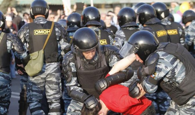 Razzia gegen russische Oppositionsführer in Moskau (Foto)