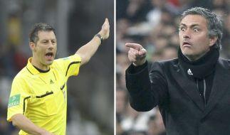 Referee Stark und Trainer Mourinho (Foto)
