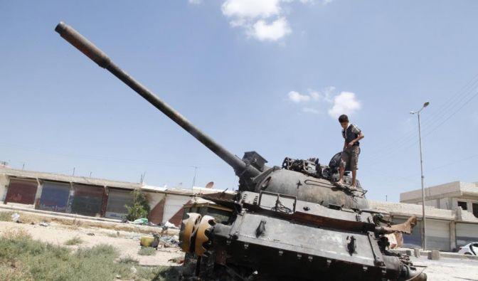 Regierungstruppen starten am 28. Juli 2012 eine Großoffensive gegen die Rebellen in der Metropole Aleppo. (Foto)