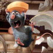 In dem Animationsspaß Ratatouille fegt die putzige Ratte Remy durch die Küche eines Pariser Gourmettempels.