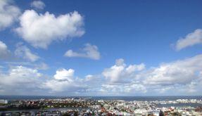 Rettungsruf: Himmel über Reykjavik täuscht. (Foto)