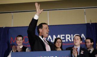 Rick Santorum erlebt doppelten Triumph (Foto)