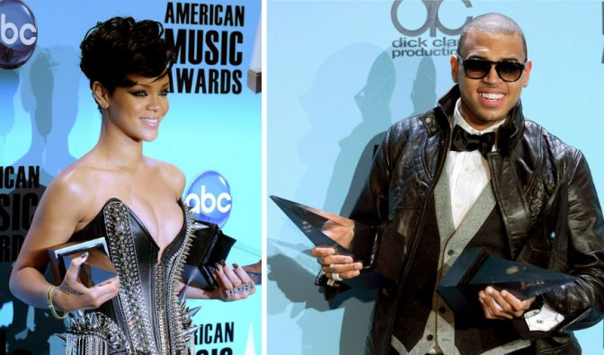 Rihanna und Chris Brown (Foto)