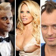 Robbie Williams, Pamela Anderson und Jude Law hatten nicht ihre beste Woche. (Foto)