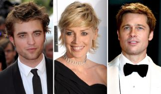 Robert Pattinson, Sharone Stone und Brad Pitt (Foto)