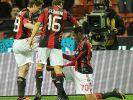 Robinho macht für Milans Cassano den Schuhputzer (Foto)